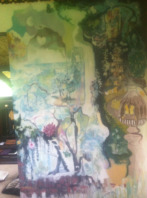 Right Side of Mural in My Cabin